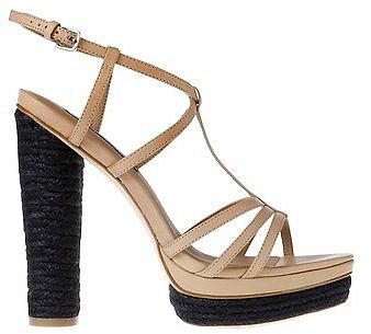 Roslyn Espadrille Wrapped Leather Platform Sandals