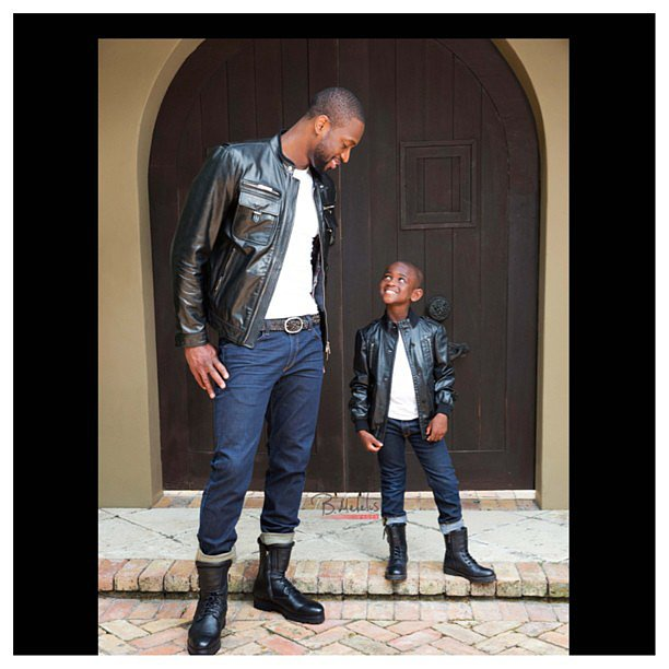 Dwyane Wade shared this sweet photo with his look-alike ...