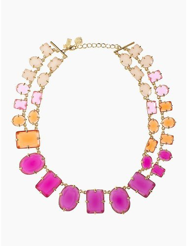 Coated confetti small statement necklace