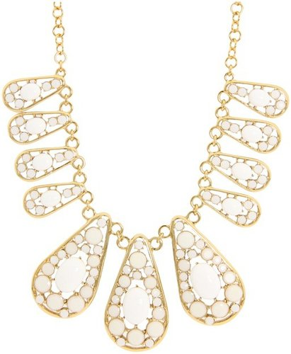 Kate Spade New York - Paisley Park Short Necklace (White) - Jewelry