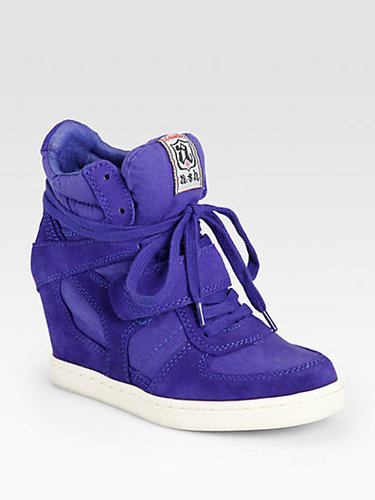 Ash Cool Canvas & Suede Wedge Sneakers