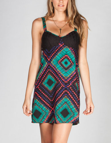 LOTTIE & HOLLY Ethnic Print Crochet Dress