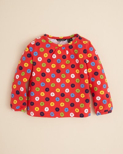 Marimekko Toddler Girls' Button Print Knit Top - Sizes 2-4