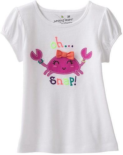 Jumping beans oh snap crab tee - toddler