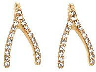 Jennifer Meyer Rose Gold and Diamonds Wishbone Studs