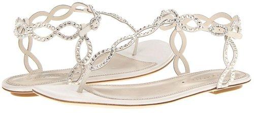 Sergio Rossi - Satin Mermaid Flat Sandal (Ivory) - Footwear