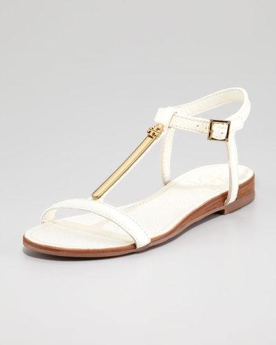 Tory Burch Pacey Thong Flat Sandal, White