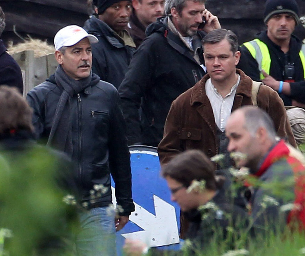Matt Damon and George Clooney worked together on The Monuments Men in Buckinghamshire, England.