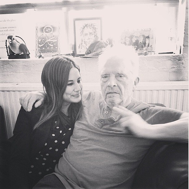 Vogue Australia fashion director Christine Centenera hung out with famed fashion photographer David Bailey. Source: Instagram user centenera
