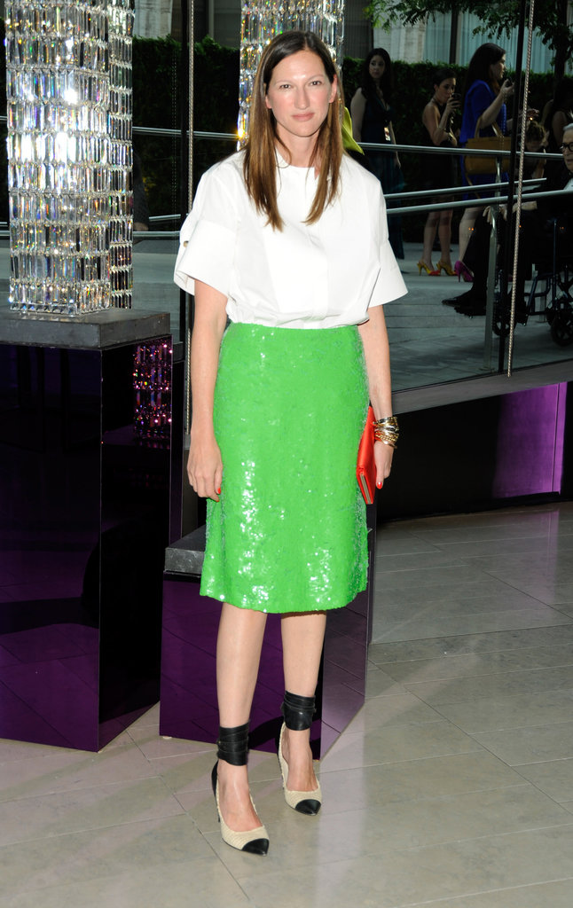 Jenna Lyons's outstanding personal style was on display at the awards in 2011 when she mixed a simple white top with lime-green sequins.