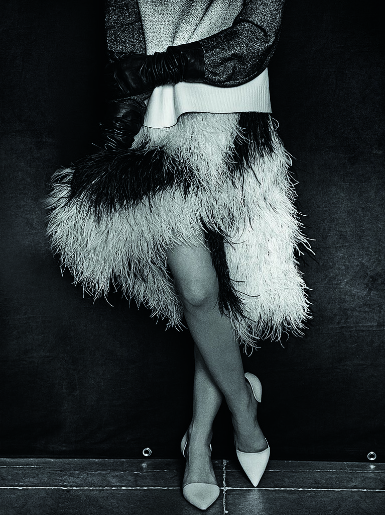 A model, wearing Proenza Schouler, photographed by Peter Lindbergh. Photo courtesy of the CFDA