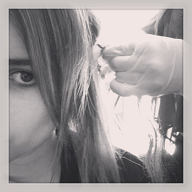 Emma Roberts documented getting her extensions taken out.  Source: Instagram user emmaroberts6