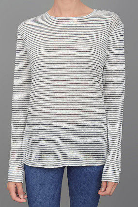 T by Alexander Wang Striped Long Sleeve Tee Chalk/Ink