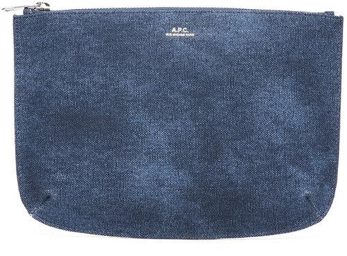 A.P.C. Large Pochette in Bleu Acier