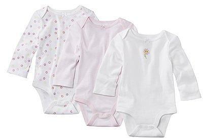 Circo® Newborn Girls' 3pk Long-Sleeve Bodysuit Set - Pink