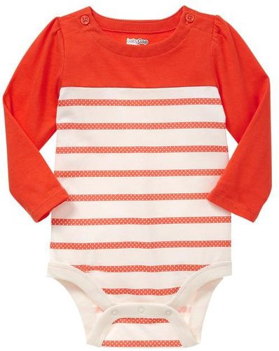 Colorblock striped bodysuit