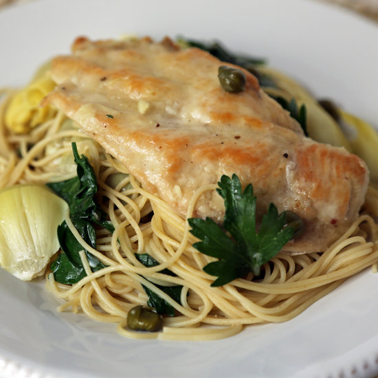 Chicken, Artichokes, and Angel Hair Pasta