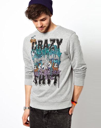 ASOS Sweatshirt With Crazy Print