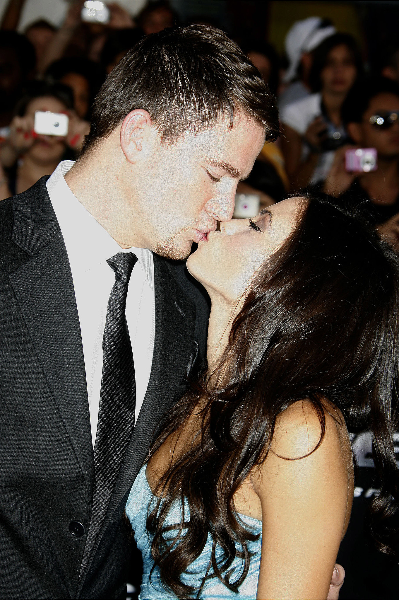 Channing kissed Jenna for the cameras in August 2009.