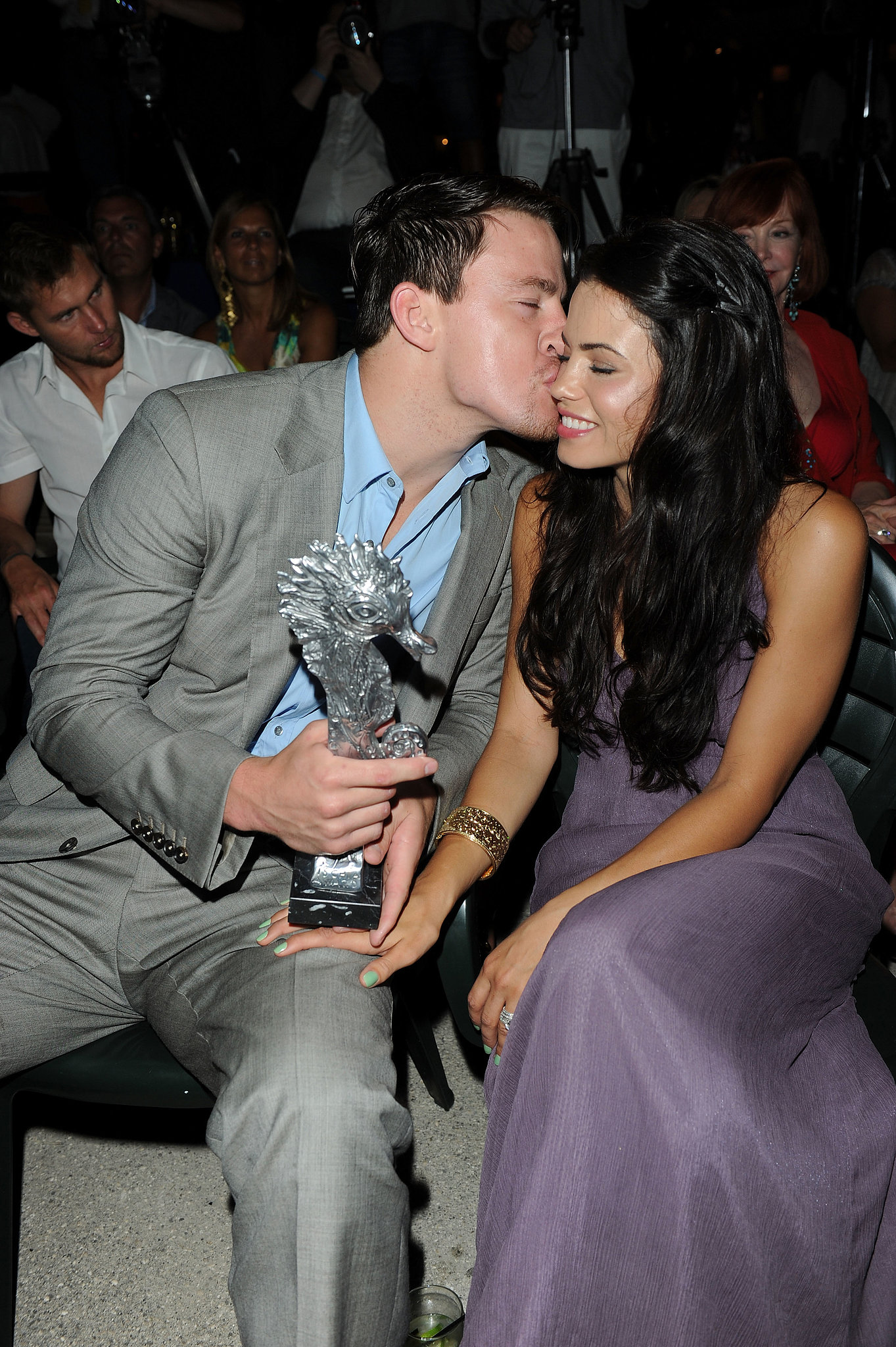Channing kissed his wife on the cheek during the July 2010 Ischia Film Festival.
