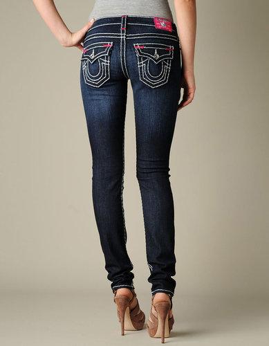Womens Julie Natural Super T W/ Fuchsia Bartacks Jean