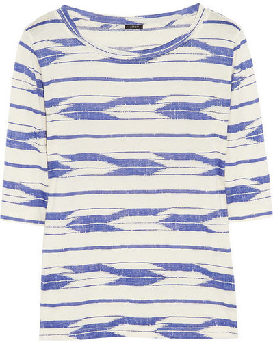J.Crew Ikat-print cotton T-shirt