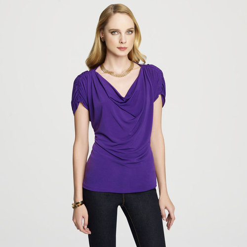 Rouched Shoulder Top