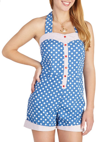 Playful in Polka Dots Romper
