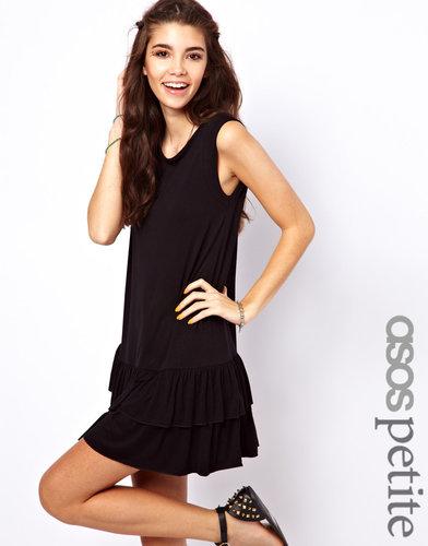 ASOS PETITE Exclusive Mini Dress With Ruffle Hem