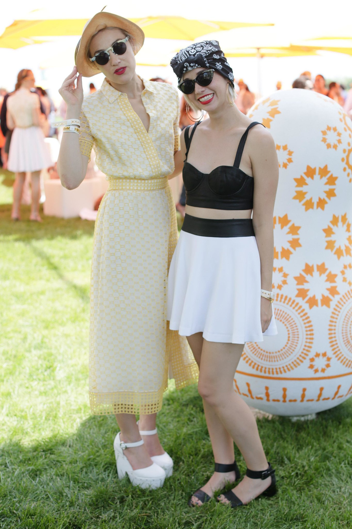 Mia Moretti and Caitlin Moe at the sixth annual Veuve Clicquot Polo