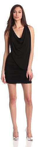 BCBGMAXAZRIA Women's Mirina Draped Cocktail Dress with Cowl Back