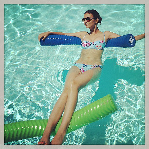 Victoria Justice caught some rays while lounging in the pool. Source: Instagram user victoriajustice