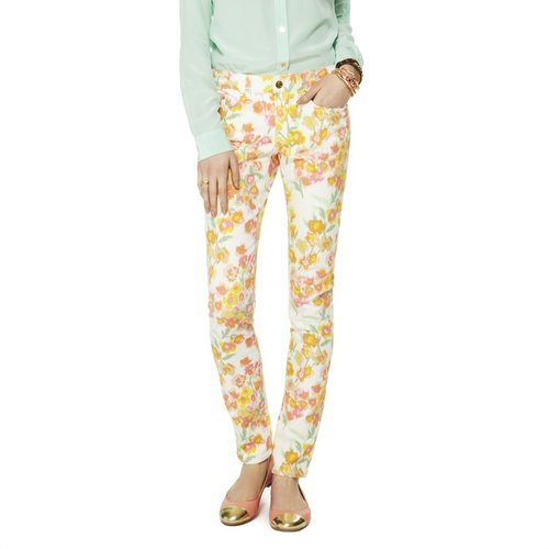 Stretch Skinny Watteau Floral Jean