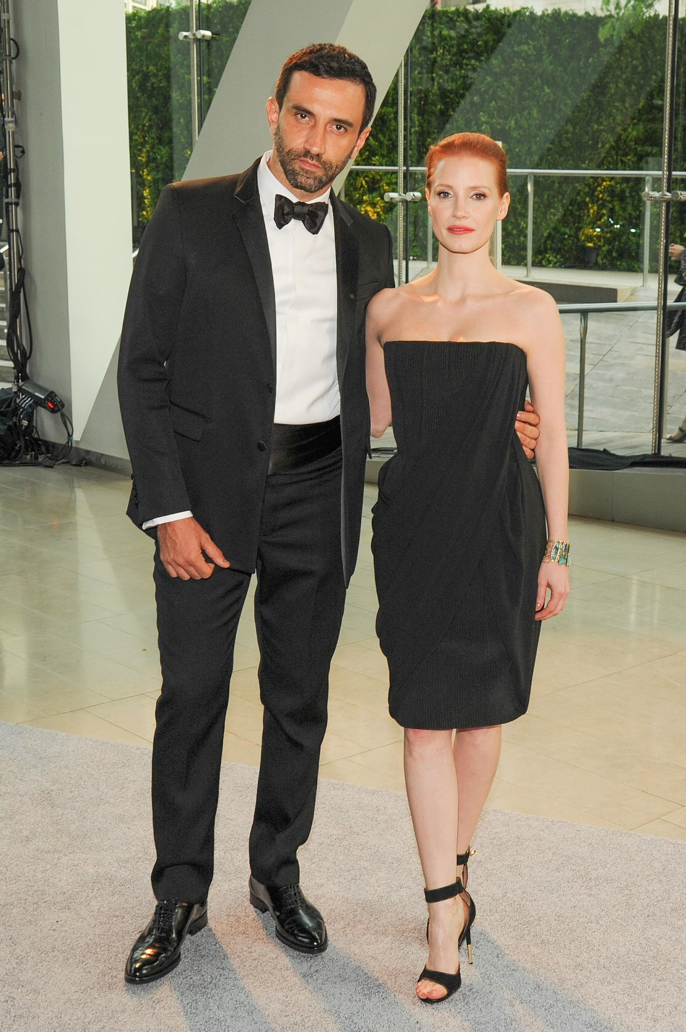 Riccardo Tisci with Jessica Chastain at the 2013 CFDA Awards. Source: Neil Rasmus/BFAnyc.com
