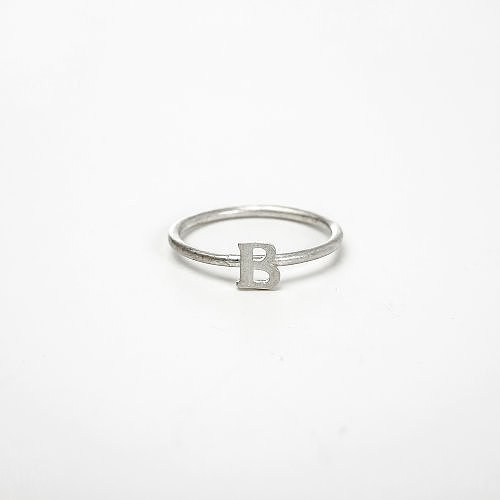 open b ring, sterling silver, size 5
