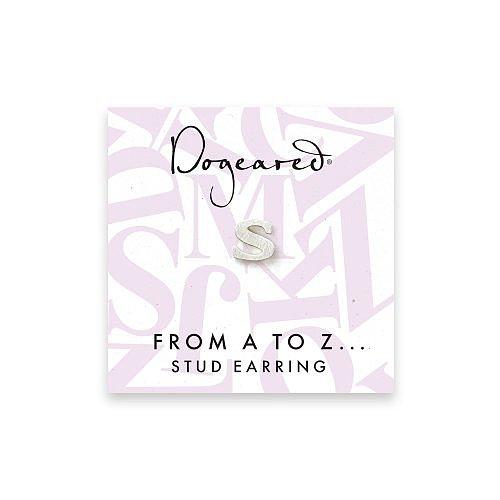 open s earring, sterling silver