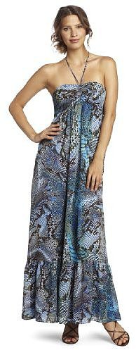 Anne Klein Women's Petite Python Print Maxi Dress