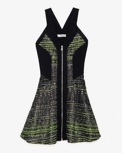Robert Rodriguez Print Jacquard Flare Dress