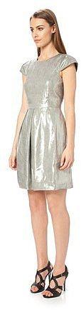 Metalika Cap Sleeve Dress