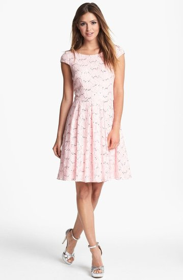 Hailey Adrianna Papell Embellished Lace Fit & Flare