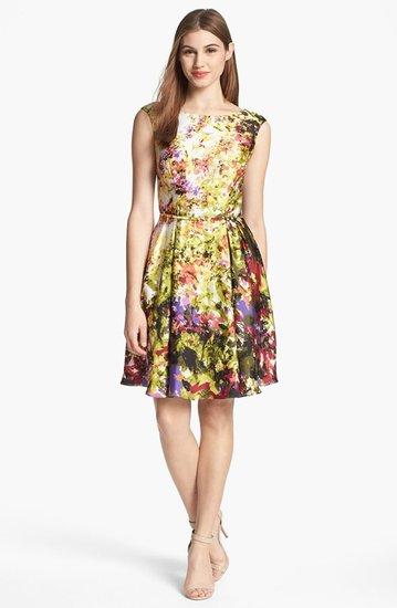 Donna Ricco Print Fit & Flare Dress