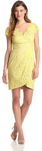 Eliza J Women's Cap Sleeve V-Neck Dress