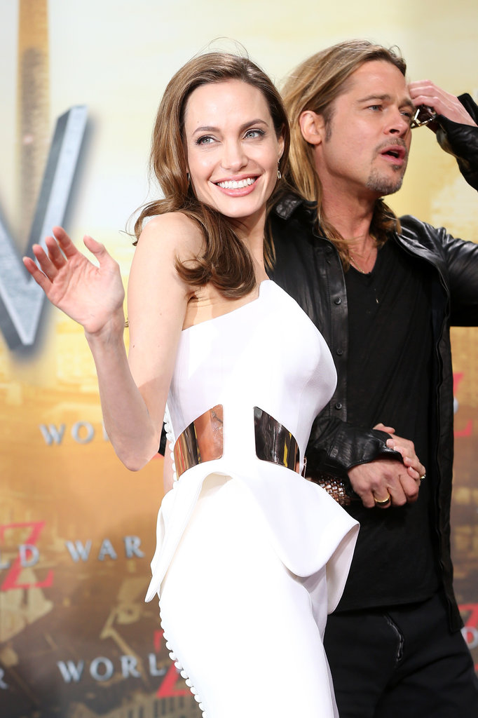 Angelina Jolie wore white in Berlin.