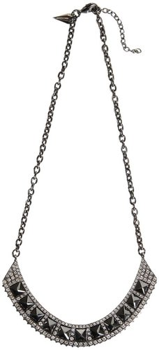 Flipped Crystal ID Necklace in Gunmetal