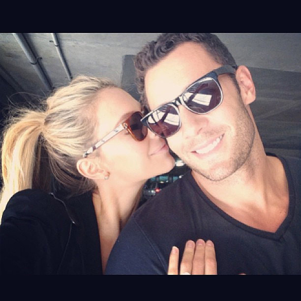The couple had a movie date in April 2013. Source: Instagram user jenhawkins_