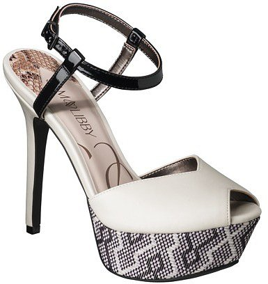 Women's Sam & Libby Margot Open Toe Pump - White/Black