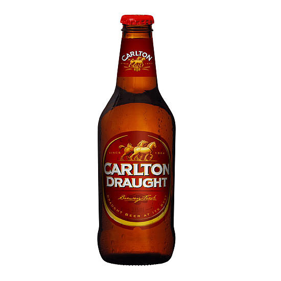 Carlton Draught Per 375ml Bottle. . .