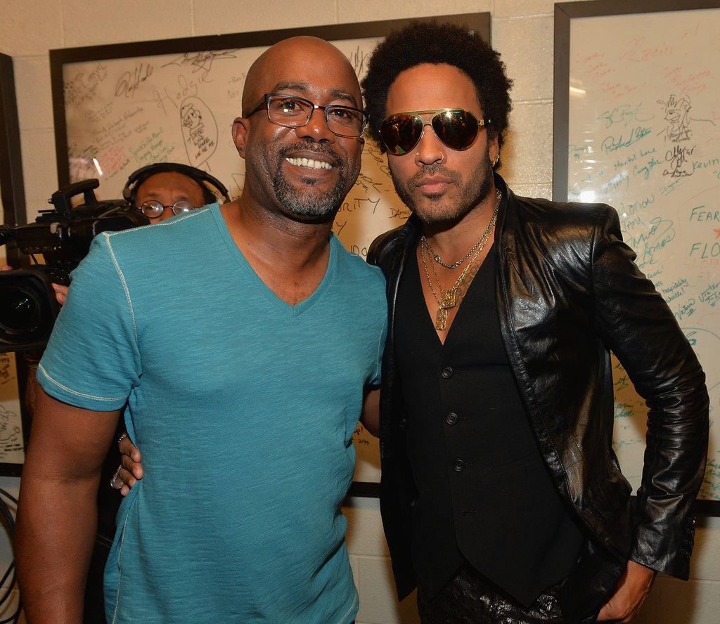 Darius Rucker posed backstage with Lenny Kravitz.