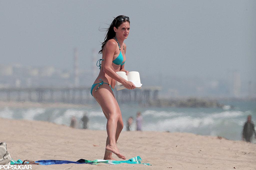 Desiree Hartsock enjoyed a beach day.
