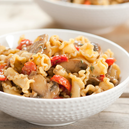 Pasta With Roasted Tomatoes and Porcini Sauce